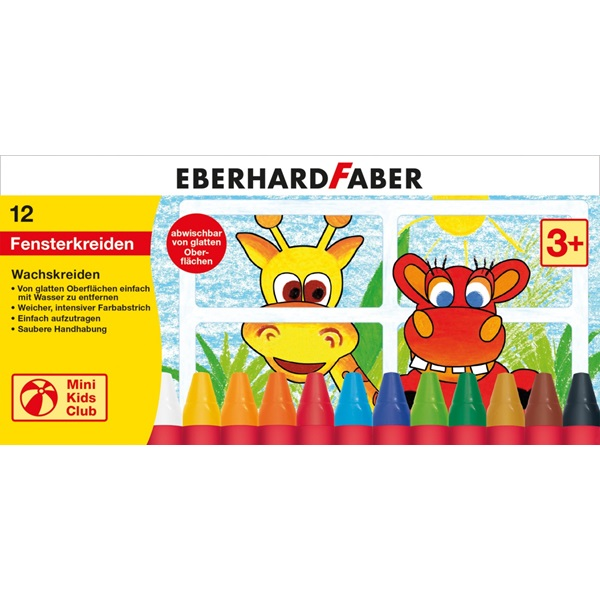 Eberhard Faber zsírkréta 12db-os Mini Kids Club